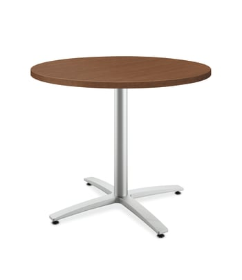 "HON Between Round Table | Seated Height X-Base | 36""D 