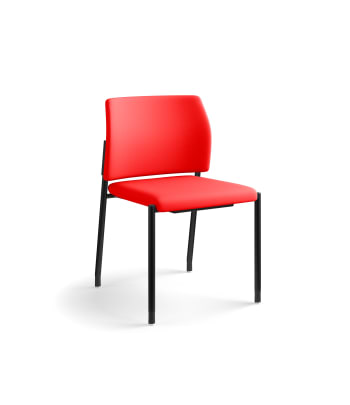 HON Accommodate Guest Chair | Armless | Casters and Glides | Ruby Fabric | Textured Black Frame