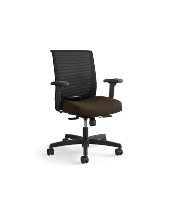 HON Convergence Task Chair | Synchro-Tilt With Seat Slide Control | Height- and Width-Adjustable Arms | Espresso Fabric