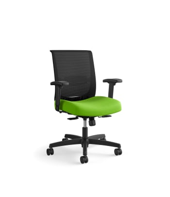 HON Convergence Task Chair | Synchro-Tilt With Seat Slide Control | Height- and Width-Adjustable Arms | Pear Fabric