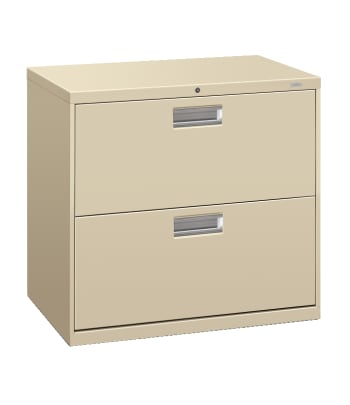 "HON Brigade 600 Series Lateral File | 2 Drawers | Aluminum Pull | 30""W 