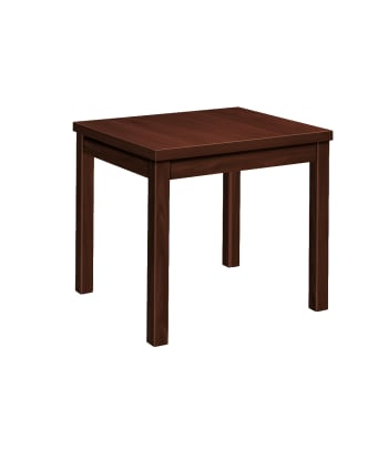 "HON Laminate End Table | Flat Edge | 24""W 