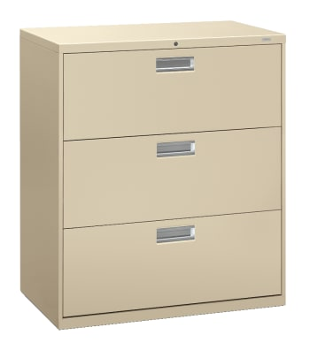 "HON Brigade 600 Series Lateral File | 3 Drawers | Aluminum Pull | 36""W 