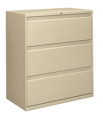 "HON Brigade 800 Series Lateral File | 3 Drawers | Radius Pull | 36""W 