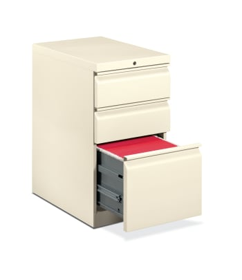 "HON Brigade Mobile Pedestal | 2 Box / 1 File Drawer | Radius Pull | 15""W 