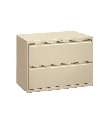 "HON Brigade 800 Series Lateral File | 2 Drawers | Radius Pull | 42""W 