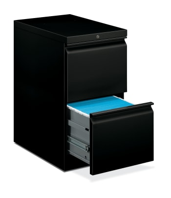 "HON Brigade Mobile Pedestal | 2 File Drawers | Radius Pull | 15""W 