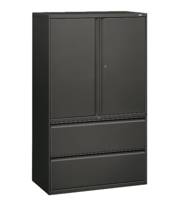 "HON Brigade 800 Series Lateral File | 2 Drawers / 3 Shelves | Radius Pull | 42""W 