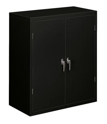 "HON Brigade Storage Cabinet | 2 Adjustable Shelves | 36""W | Black Finish"