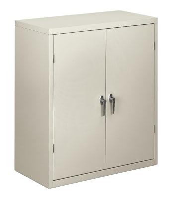 "HON Brigade Storage Cabinet | 2 Adjustable Shelves | 36""W | Light Gray Finish"