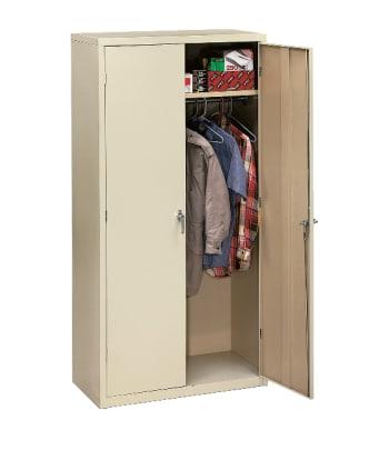 "HON Brigade Storage Cabinet | 5 Adjustable Shelves | 18-1/8""D x 72""H | Putty Finish"