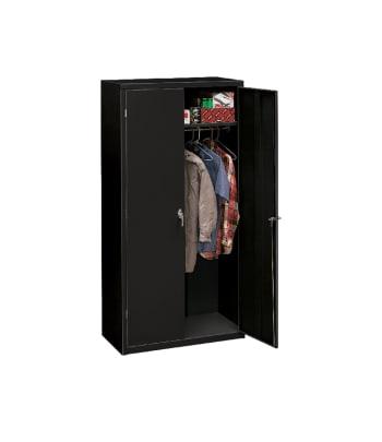 "HON Brigade Storage Cabinet | 5 Adjustable Shelves | 18-1/8""D x 72""H | Black Finish"