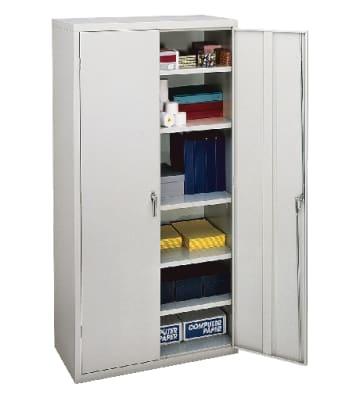 "HON Brigade Storage Cabinet | 5 Adjustable Shelves | 18-1/8""D x 72""H | Light Gray Finish"