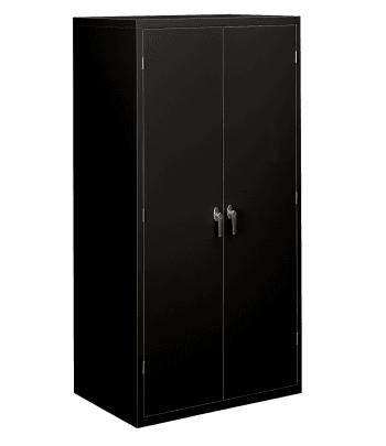 "HON Brigade Storage Cabinet | 5 Adjustable Shelves | 24-1/8""D x 72""H | Black Finish"