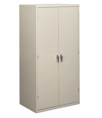 "HON Brigade Storage Cabinet | 5 Adjustable Shelves | 24-1/8""D x 72""H | Light Gray Finish"