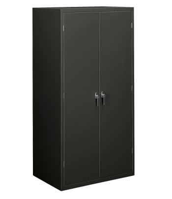 "HON Brigade Storage Cabinet | 5 Adjustable Shelves | 24-1/8""D | Charcoal Finish"