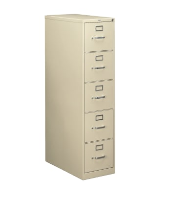 "HON 210 Series Vertical File | 5 Drawers | Letter Width | 15""W x 28-1/2""D 