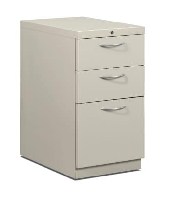 "HON Flagship Mobile Pedestal | 2 Box / 1 File Drawer | Arch Pull | 15""W | Light Gray Finish"