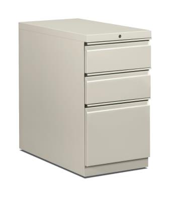 "HON Flagship Mobile Pedestal | 2 Box / 1 File Drawer | Radius Pull | 15""W | Light Gray Finish"