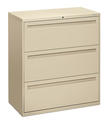 "HON Brigade 700 Series Lateral File | 3 Drawers | Integral Pull | 36""W 