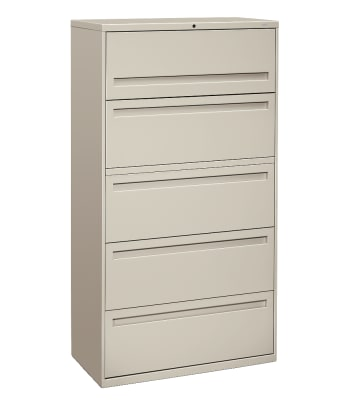 "HON Brigade 700 Series Lateral File | 5 Drawers | Integral Pull | 36""W 