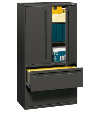 "HON Brigade 700 Series Lateral File | 2 Drawers / 3 Shelves | Integral Pull | 36""W 