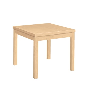 "HON Laminate Corner Table   Flat Edge   24""W   Natural Maple Laminate"
