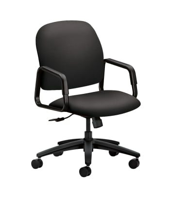 HON Solutions Seating High-Back Chair | Center-Tilt | Fixed Arms | Charcoal Fabric