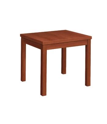 "HON Occasional Laminate Straight Table   24""L X 20""W   Cognac"