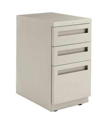 "HON Flagship Freestanding Support Pedestal | 2 Box / 1 File Drawer | Integral Pull | 15""W | Light Gray Finish"