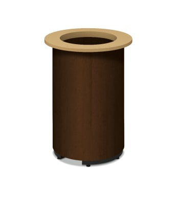HON Preside Laminate Cylinder Base | Mocha Finish