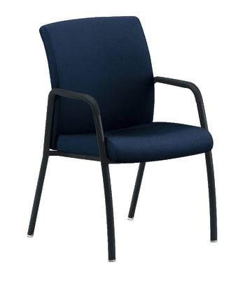 HON Ignition 4-Leg Guest Chair | Navy Fabric | Black Frame