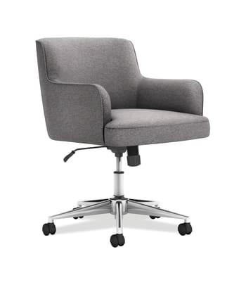 Matter Gray Upholstered Chair 5 Star Base