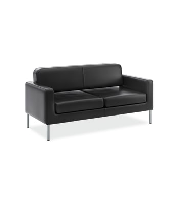 HON Corral Sofa | Black SofThread Leather