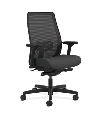 HON Endorse Mesh Mid-Back Task Chair | Built-In Lumbar | Synchro-Tilt, Seat Glide | Iron Ore Fabric