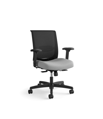 HON Convergence Task Chair | Synchro-Tilt With Seat Slide Control | Height- and Width-Adjustable Arms | Frost Fabric