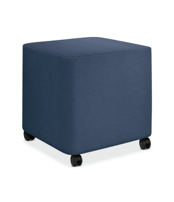 HON Flock Mini Cube | Casters | Jet Fabric