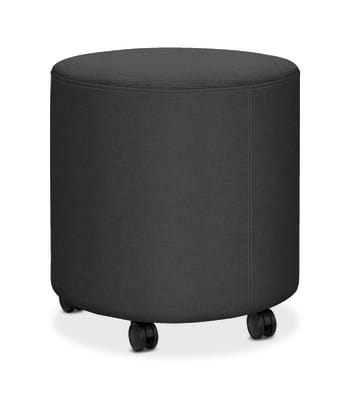 HON Flock Mini Cylinder   Casters   Carbon Fabric