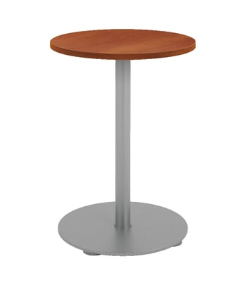 HON Flock 18 Inch Personal Table Laminate | Cognac Top | Textured Silver Base