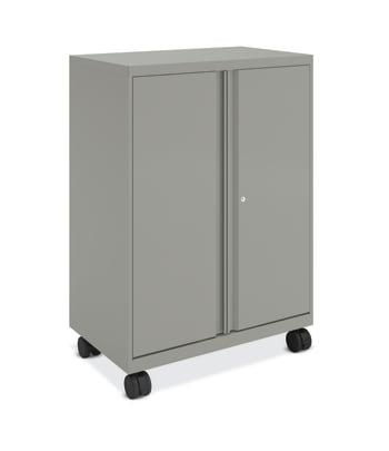 HON SmartLink Mobile Cabinet | Storage Bins | 18′′D | Platinum Metallic Finish