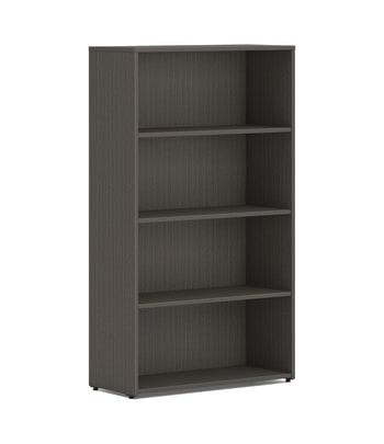 "HON Mod Bookcase | 4 Shelves | 30""W | Slate Teak Finish"