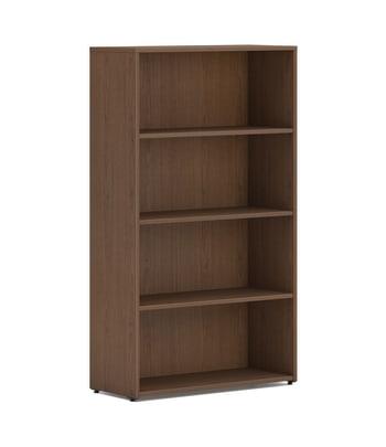 "HON Mod Bookcase | 4 Shelves | 30""W | Sepia Walnut Finish"