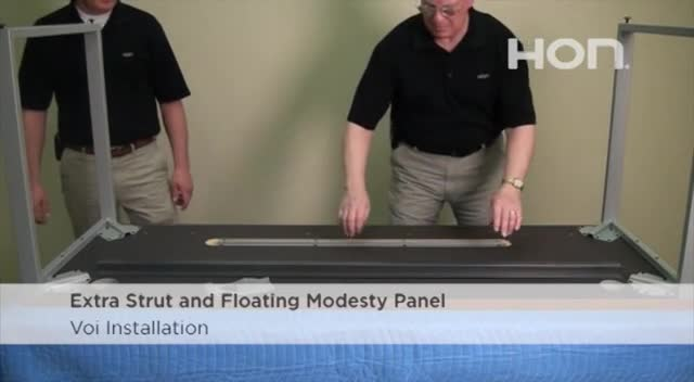 Voi Installation - Extra Strut and Floating Modesty Panel video link