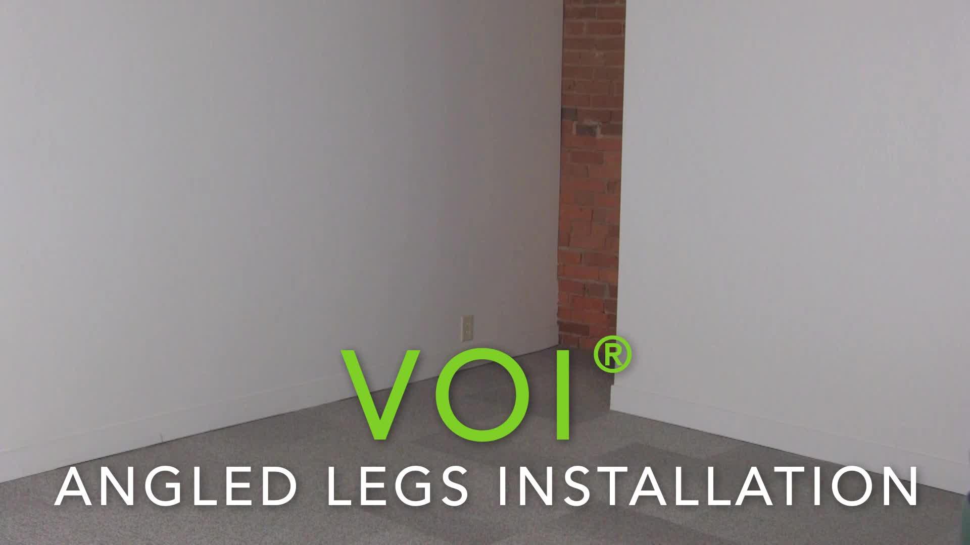 Voi Angled Legs Installation video link