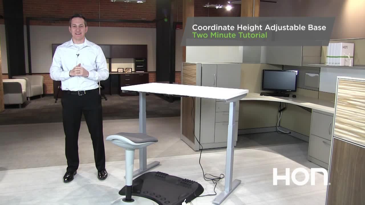 Coordinate Height Adjustable Base video link