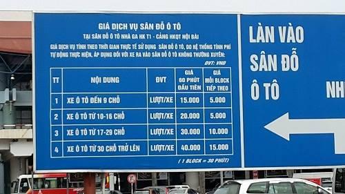 giá đỗ xe Nội Bài