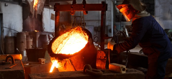 A metal caster takes molten liquid metal and pours it into casts or molds to form metal shapes that, when cooled, are sanded, ground, and polished before being finished.