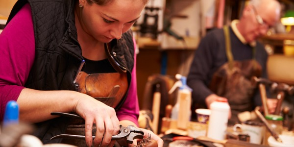 Leather and shoe workers can create every type of leather product imaginable including wallets, handbags, designer shoes, luggage, and even horse saddles.