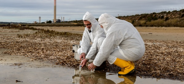 Industrial ecologists do laboratory and field tests to monitor the environment and investigate sources of pollution, including those affecting health.