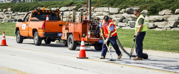 A highway maintenance worker ensures that highways and roads across the country stay in safe and working order.